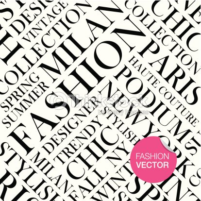 Fashion Vector Background Words Cloud stock vector - Thinkstock