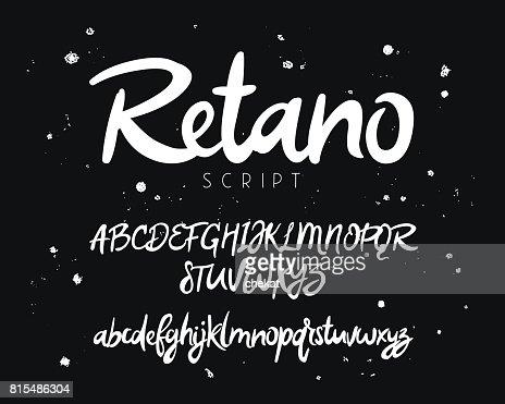Fashionable modern vector font : stock vector