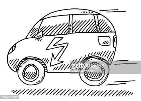 Power Charging Station Electric Car Drawing Vector Art Getty Images
