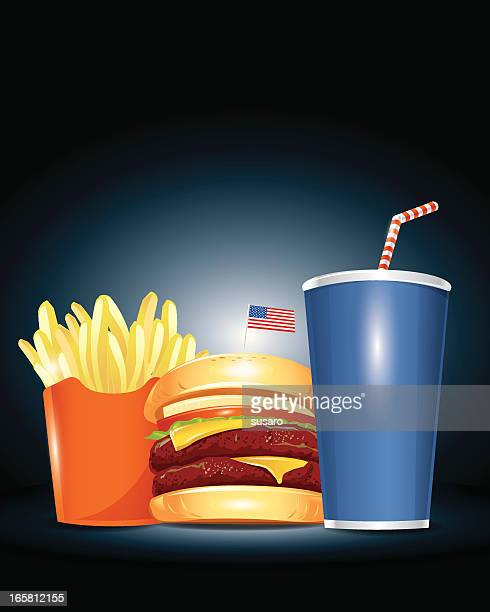 Fast Food Beauty Shot Illustration