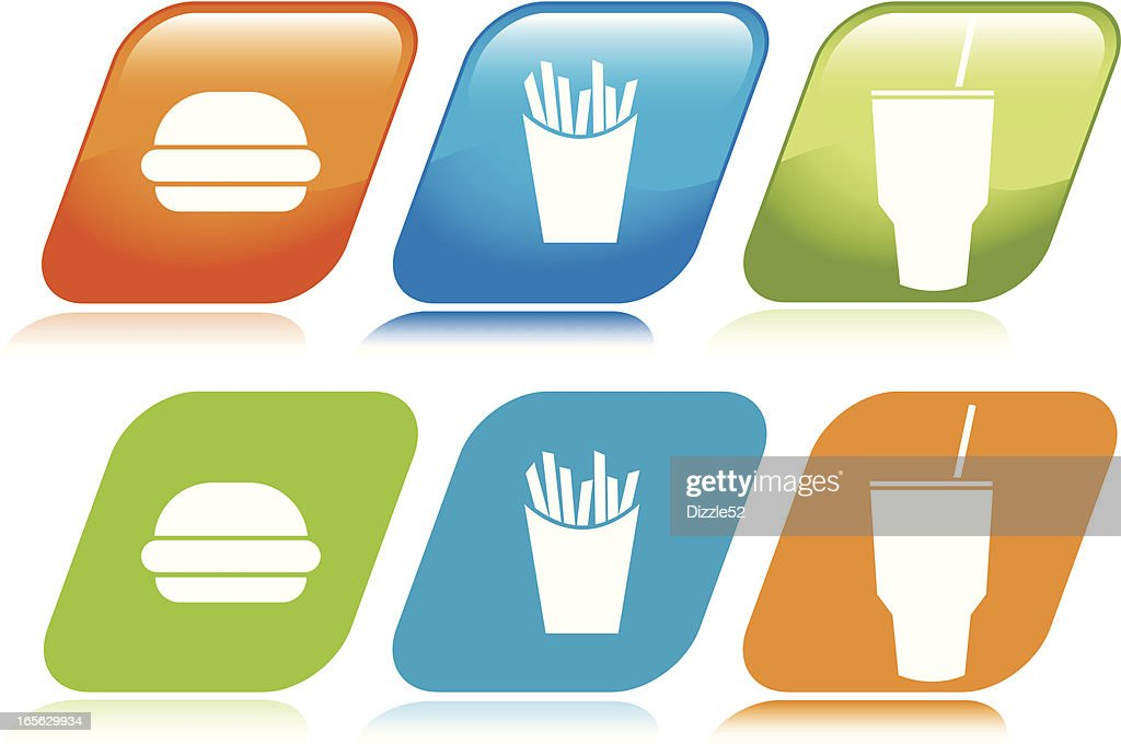 Fast Food Icons : Vector Art
