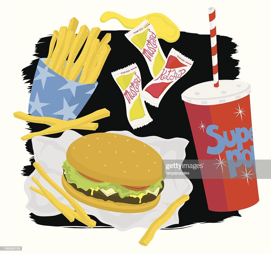 Fast Food : Vector Art
