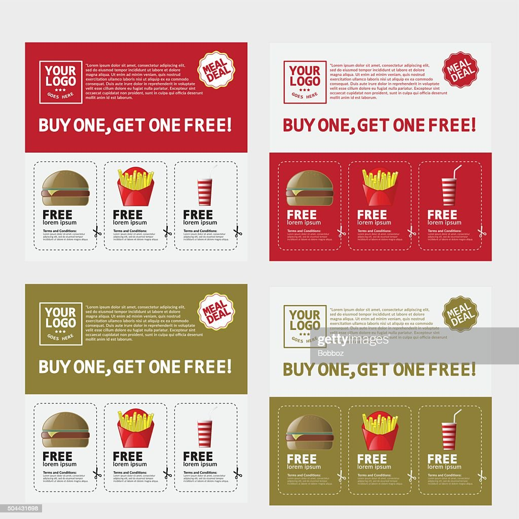 Fast Food Voucher Template Vector Art | Thinkstock