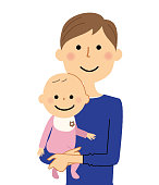 It is an illustration of my dad and a baby.