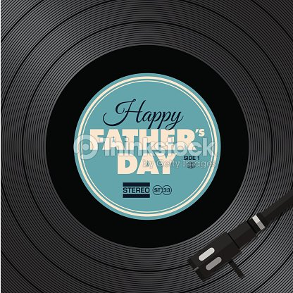 Fathers day card music vinyl disc concept vector art thinkstock - Achat platine vinyle vintage ...