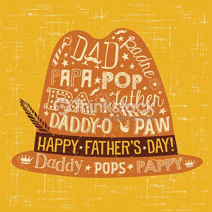 Fathers day greeting card doodle style fedora with various different fathers day greeting card doodle style fedora with various different nicknames for dad m4hsunfo
