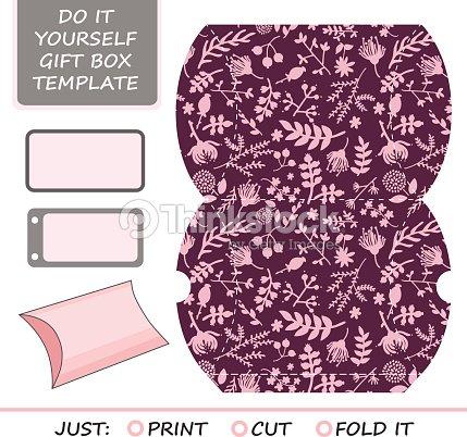 Favor gift box die cut box template vector art thinkstock favor gift box die cut box template solutioingenieria Images