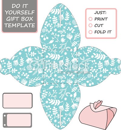 Favor gift box die cut box template with tiffany blue vector art favor gift box die cut box template with tiffany blue vector art solutioingenieria Images