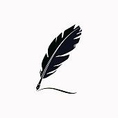 Feather vector  icon.