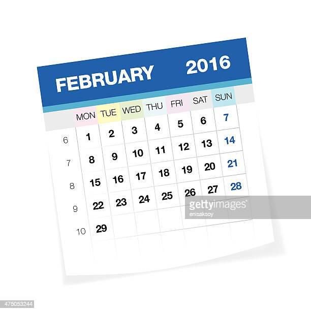 February 2016 European Calendar