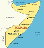 Federal Republic of Somalia - vector map.