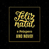 Merry Christmas and Happy New Year in portuguese