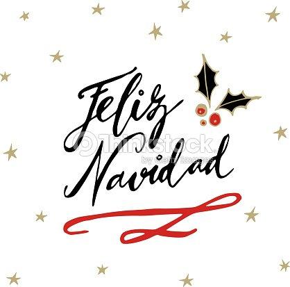 feliz navidad espagnol joyeux no l cartes de voeux avec. Black Bedroom Furniture Sets. Home Design Ideas