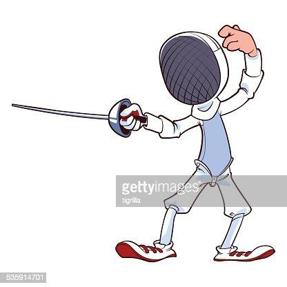 Fencer with rapier : Vector Art