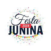 festa junina 2019 background celebration design