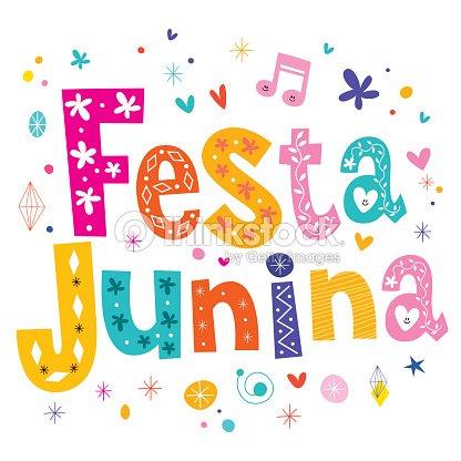 Festa Junina Dekorativen Texttraditionellen Brasilien Juni