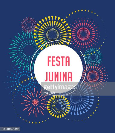Festa Junina - Latin American, Brazilian June Festival : stock vector