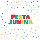 festa junina stars celebration background