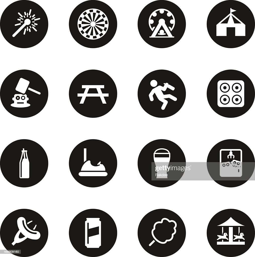 Festival icons black circle series vector art getty images for Black circle vector