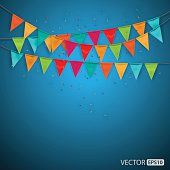 Festive background with flags,vector