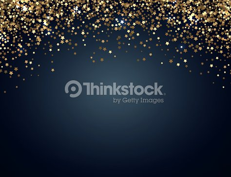 festive horizontal christmas and new year background with gold glitter of stars vector illustration
