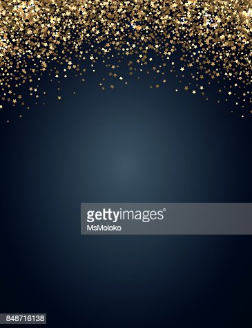 Festive vertical Christmas and New Year background with gold glitter of stars. Vector illustration : Vector Art