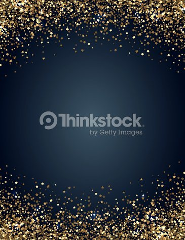 Festive vertical Christmas and New Year background with gold glitter of stars. Vector illustration : stock vector