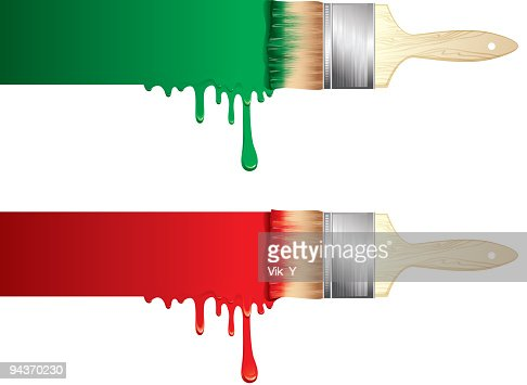 paint vector paintbrush with colourful paint splatters vector art getty images