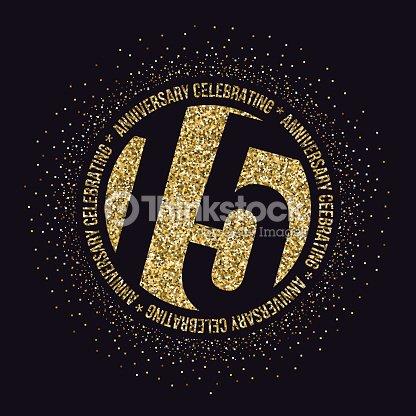 Fifteen Years Anniversary Celebration Logotype 15th Anniversary