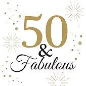 fifty celebration design