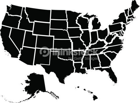 Fifty Individual States Vector Art Thinkstock - Us individual state maps