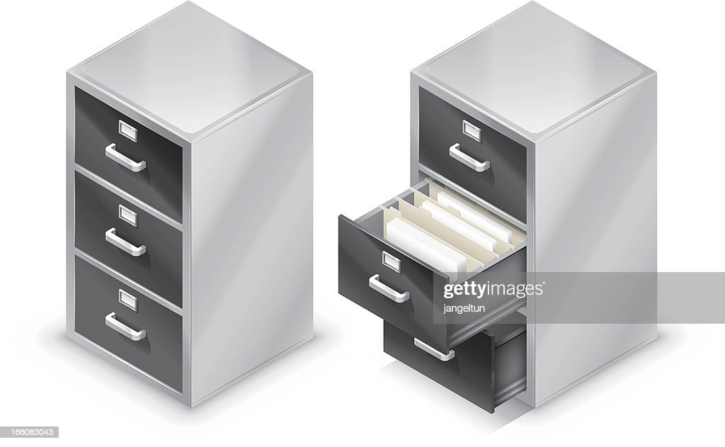 file cabinet vector art