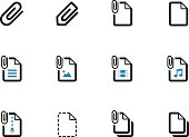 File Clip duotone icons on white background. Vector illustration.
