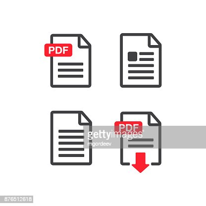 File download icon. Document text, symbol web format information. Document icon set : stock vector