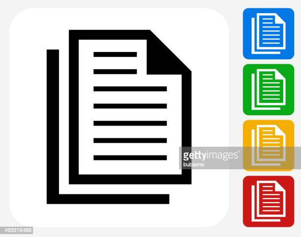 Files Icon Flat Graphic Design