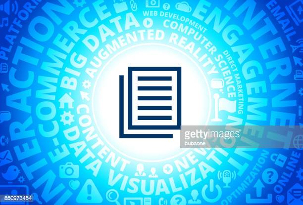 Files Icon on Internet Modern Technology Words Background