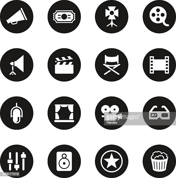 Filmindustrie-Icons-Schwarz-Serie Circle