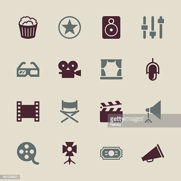 Filmindustrie Icons-Color-Serie/EPS10