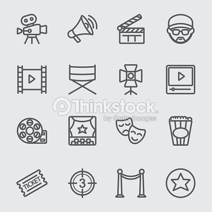 Film industry line icon : stock vector