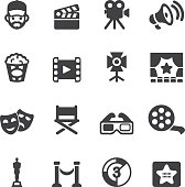 Film industry Silhouette icons