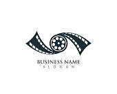 Film movie logo vector template icons