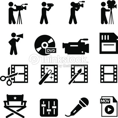 Film Production Icons - Black Series : stock vector