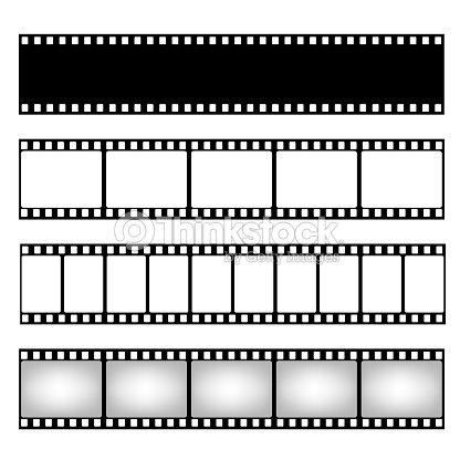 Film Strip Collection Vector Template Cinema Frame Vector Art ...