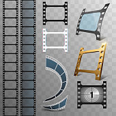 Film strip design elements in vector