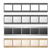 Film Strip Set on a White Background. Vector illustration