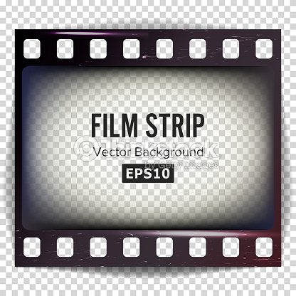 Film Strip Vector Frame Strip Blank Scratched Isolated On ...