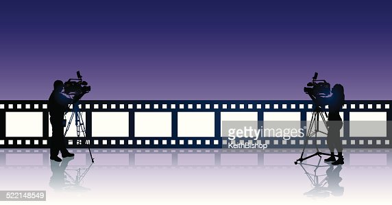 Film video television production background vector art for S bains media production