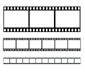 Filmstrip set illustration  - simple vector illustration isolated on white background