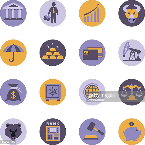 Finance and Banking icon set