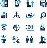 Blue vector icons for your website or presentation.